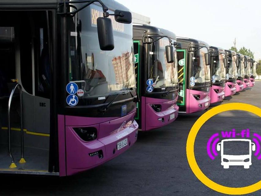 На одном из автобусных маршрутов Баку заработал бесплатный Wi-Fi