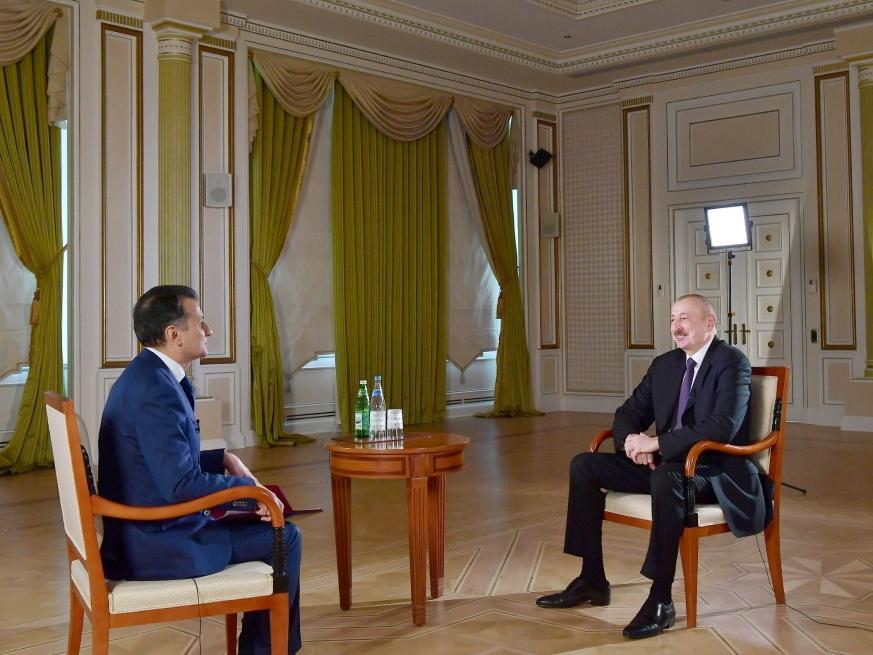 Президент Ильхам Алиев дал интервью Real TV - ВИДЕО