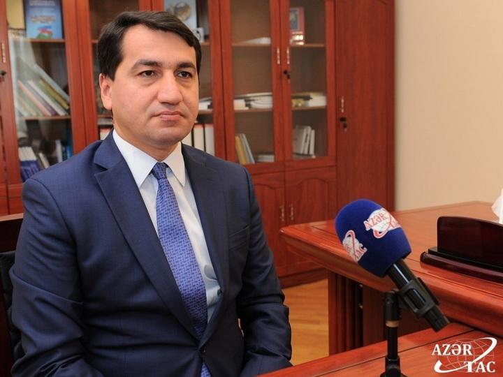 Хикмет Гаджиев: Последние заявления официальных лиц Армении не служат продвижению переговорного процесса