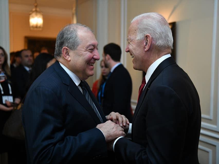 Президент Армении встретился с Джо Байденом