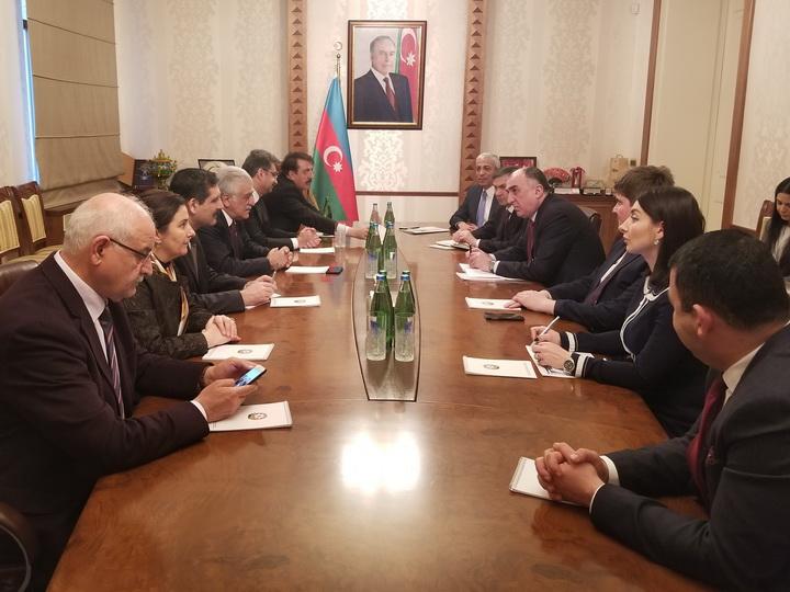 Эльмар Мамедъяров встретился с представителями азербайджано-турецкой межпарламентской группы дружбы