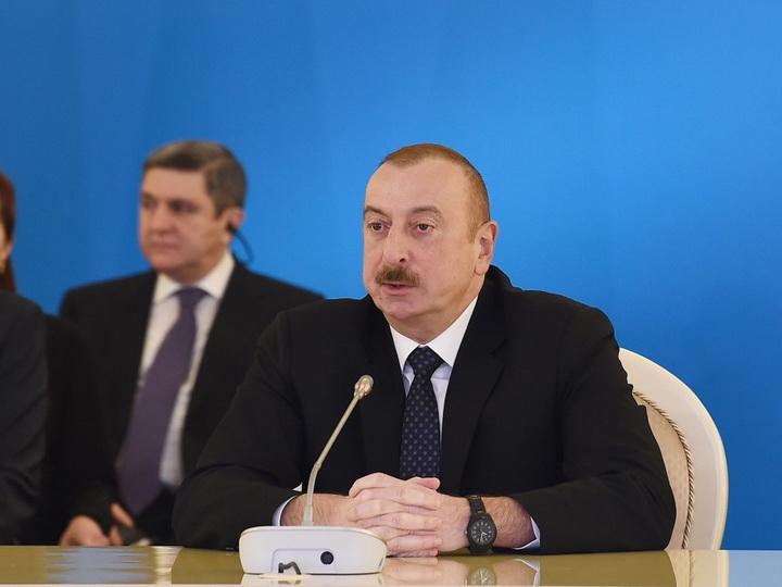 Президент Ильхам Алиев: Сегодня Азербайджан становится транспортным центром Евразии - ФОТО