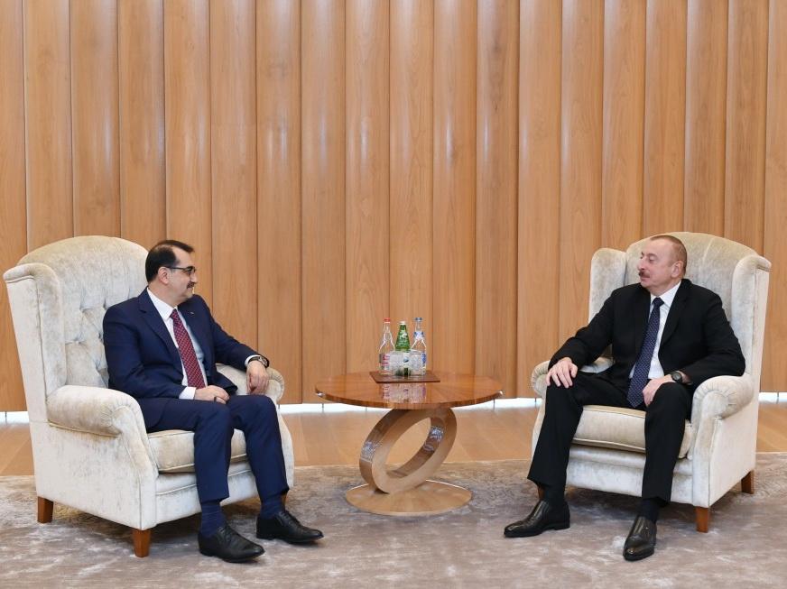 Президент Ильхам Алиев встретился с министром энергетики Турции - ФОТО