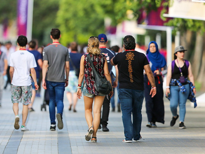 Турпоток из России в Азербайджан за 2018 год вырос