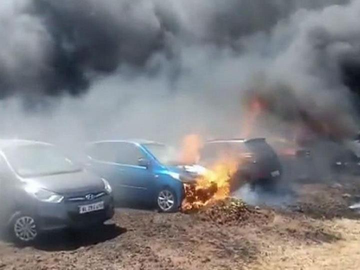 Пожар у аэродрома в Бангалоре уничтожил около трехсот транспортных средств