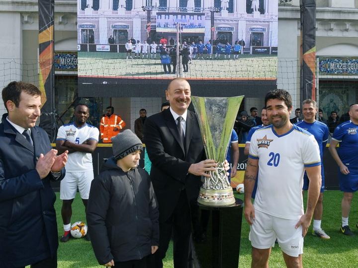 Президент Ильхам Алиев наблюдал за игрой «Баку 2019: финал звезд» - ФОТО
