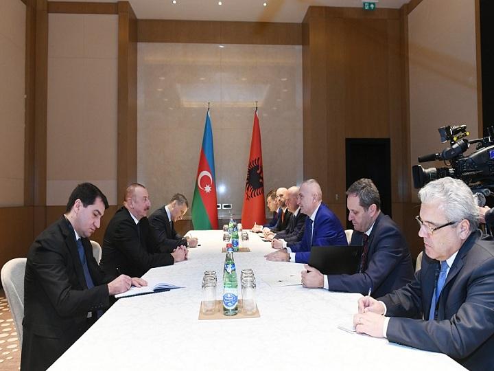 Prezident İlham Əliyev Albaniya Prezidenti İlir Meta ilə görüşüb