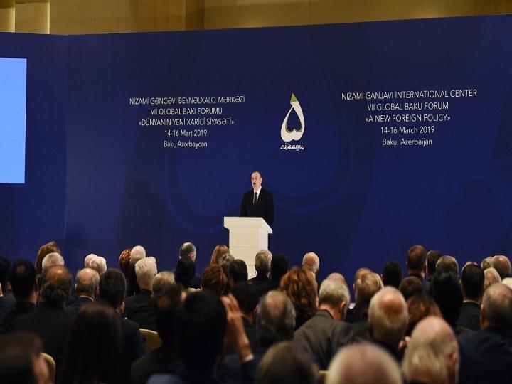 Prezident İlham Əliyev VII Qlobal Bakı Forumun açılışında iştirak edib - YENİLƏNİB -FOTO