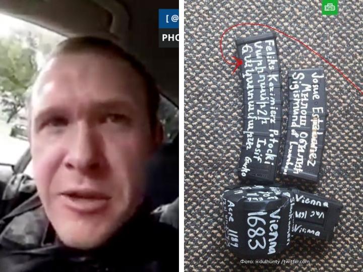 Убийца верующих в мечетях Новой Зеландии расписал свое оружие надписями на армянском языке – ФОТО – ВИДЕО
