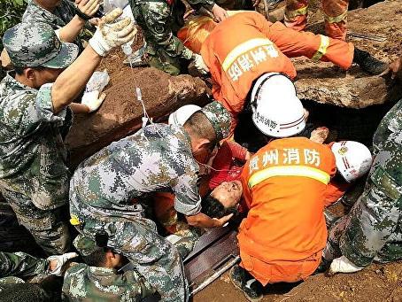Число жертв оползня в Китае достигло 20 человек