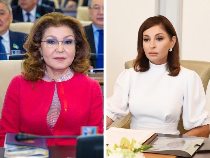 Первый вице-президент Мехрибан Алиева поздравила Даригу Назарбаеву