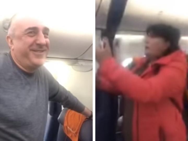 Эльмар Мамедъяров армянской журналистке в самолете: «Вы, главное, не нервничайте...» - ВИДЕО