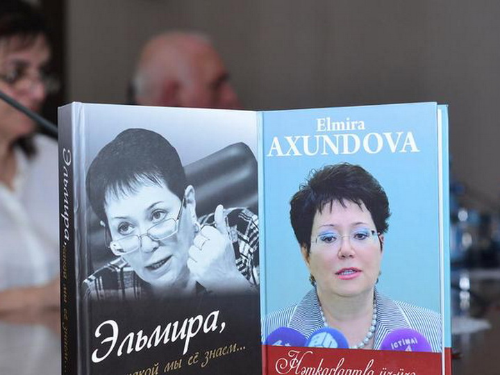 «Эльмира, какой мы ее знаем» - в Международном пресс-центре в Баку состоялась презентация двухтомника Эльмиры Ахундовой - ФОТО