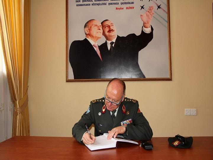 NATO-nun Beynəlxalq Hərbi Qərargahının baş direktoru Hərbi Akademiyada olub – FOTO