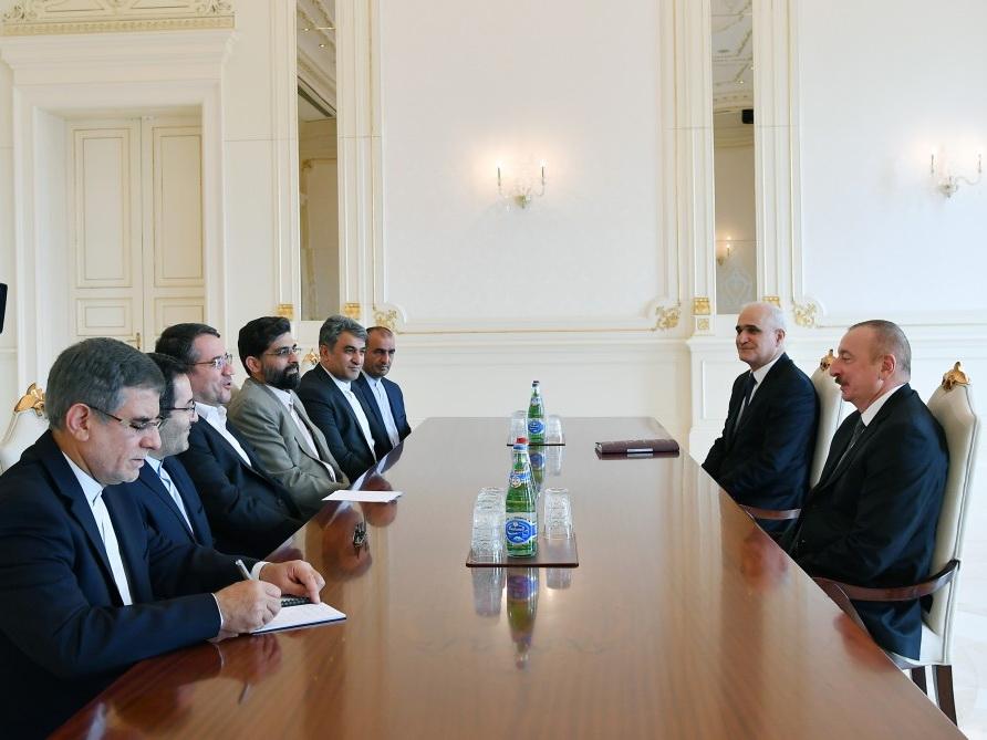 Президент Ильхам Алиев принял делегацию Ирана