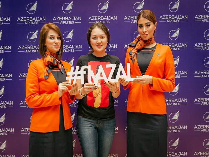 AZAL Almatıda yeni müntəzəm aviareysin təqdimatını keçirib – FOTO