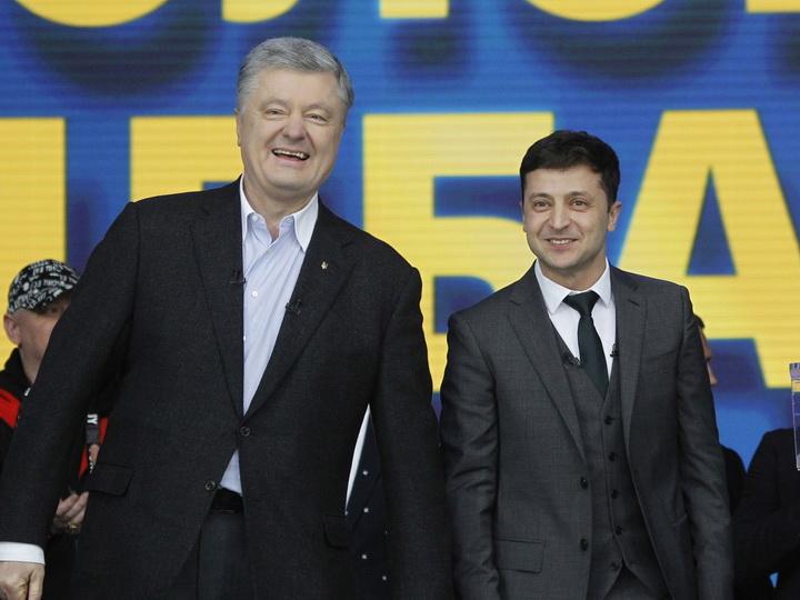 Порошенко поздравил Зеленского и заявил о готовности подставить плечо новому президенту