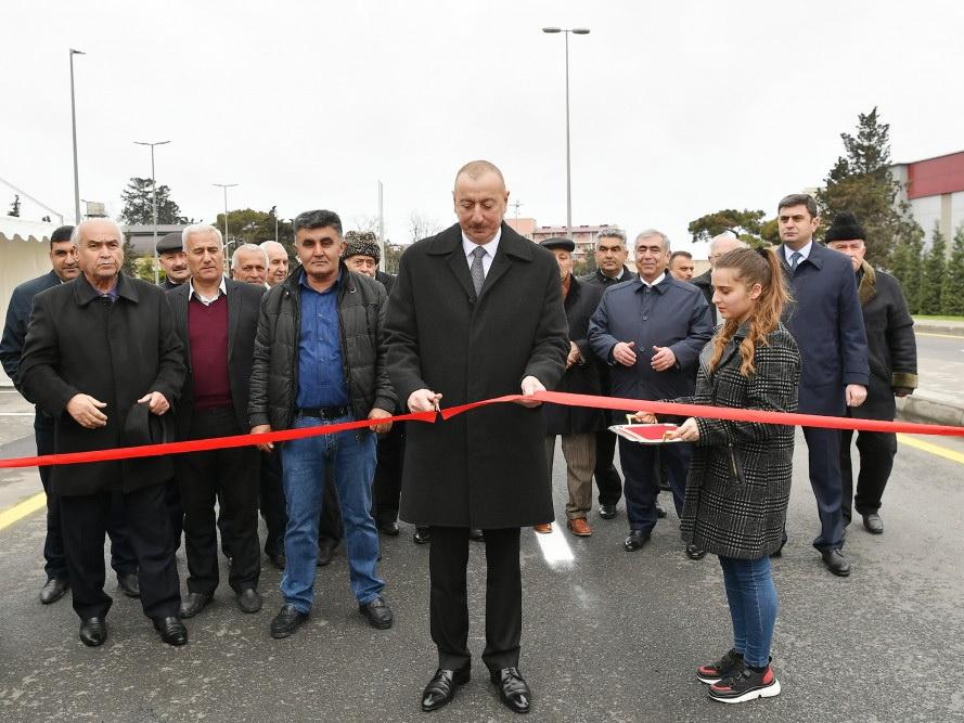 Президент Ильхам Алиев принял участие в открытии автомобильной дороги Мардакян-Гала - ФОТО