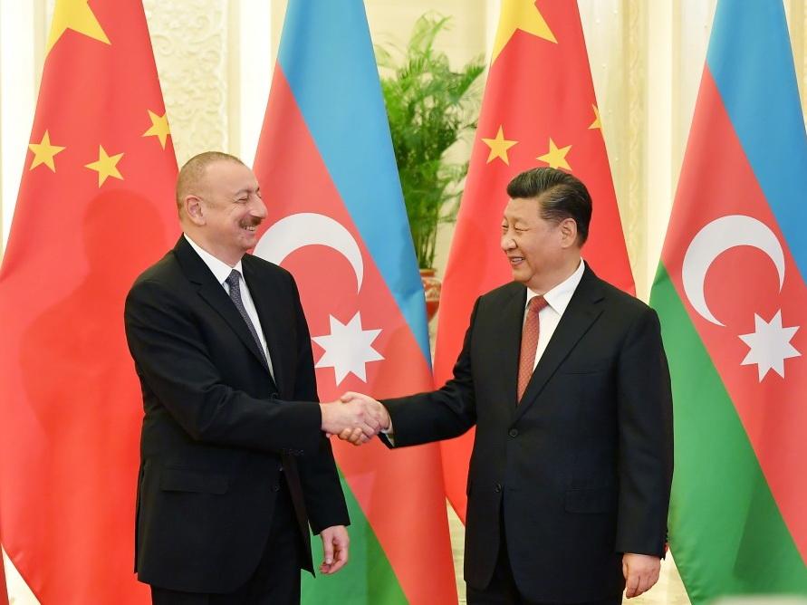 В Пекине состоялась встреча Президента Азербайджана с Председателем КНР - ФОТО