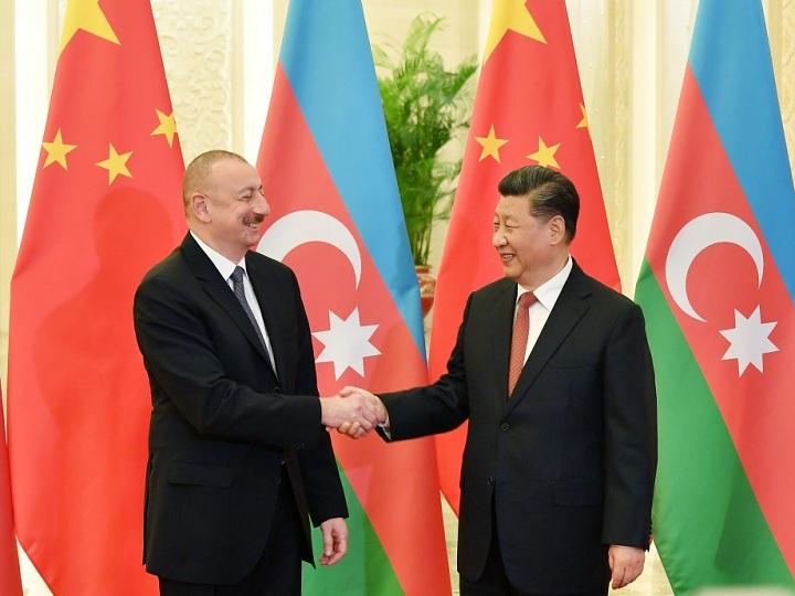 Prezident İlham Əliyev Çin Xalq Respublikasının sədri Si Cinpin ilə görüşüb – FOTO – YENİLƏNİB