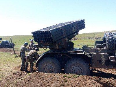 Артиллерийские учения ВС Армении с участием систем «Град»