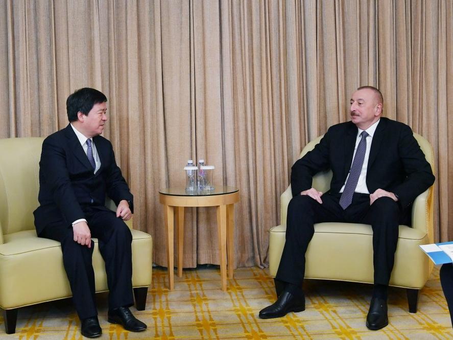 Президент Ильхам Алиев встретился с председателем Корпорации ZTE - ФОТО