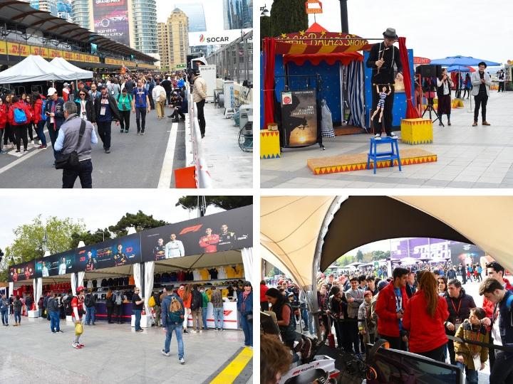 Атмосфера Формулы 1 и много развлечений. Открылась развлекательная зона Baku City Circuit – ФОТО