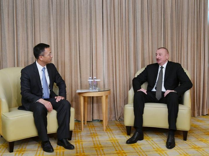 Президент Азербайджана встретился с президентом China National Electric Engineering - ФОТО