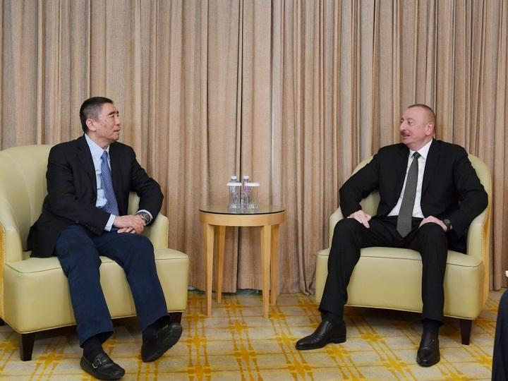 Президент Ильхам Алиев встретился с председателем Корпорации China Poly Group - ФОТО