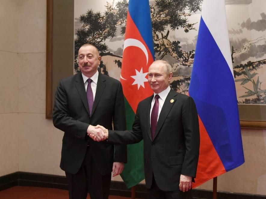 В Пекине состоялась встреча президентов Азербайджана и России - ФОТО