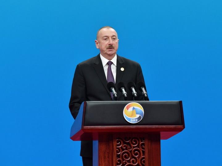 Президент Ильхам Алиев принимает участие в Форуме «Один пояс – один путь» - ФОТО