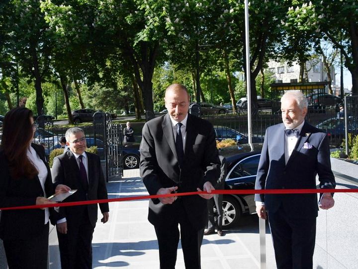 Президент Ильхам Алиев принял участие в открытии нового здания посольства Азербайджана в Бельгии - ФОТО