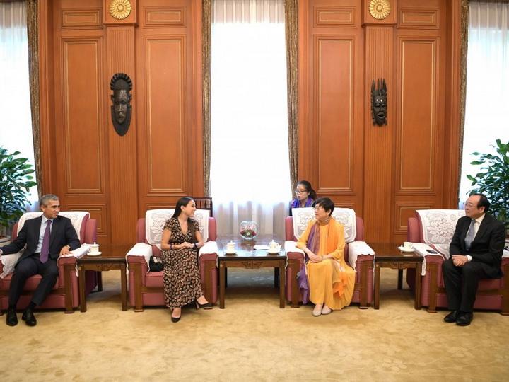 Лейла Алиева встретилась с председателем Китайской народной ассоциации дружбы с зарубежными странами - ФОТО