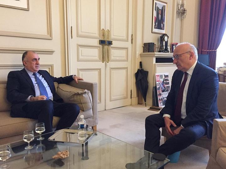 Elmar Məmmədyarov Fransa tərəfini Qarabağ danışıqlarının hazırkı vəziyyəti barədə məlumatlandırıb