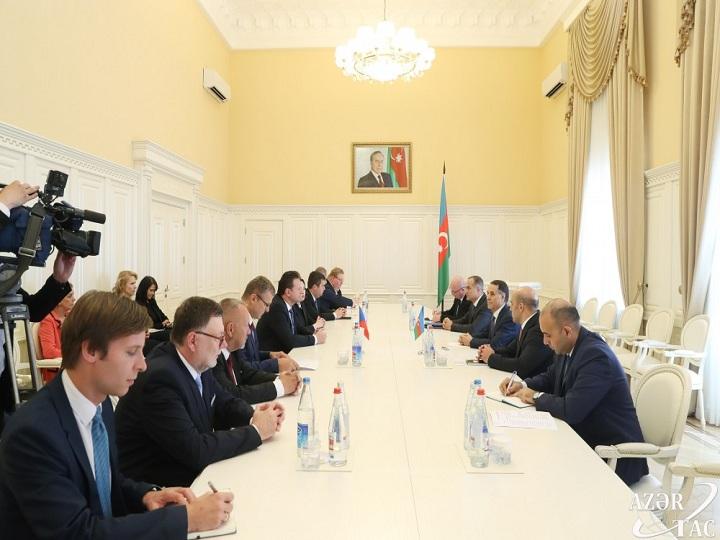 Novruz Məmmədov Çexiya Parlamenti Deputatlar Palatası sədrinin rəhbərlik etdiyi nümayəndə heyəti ilə görüşüb