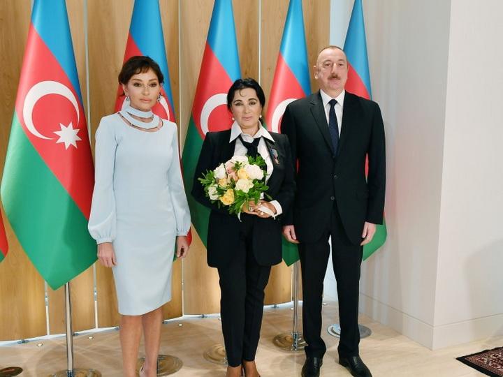 Президент Азербайджана и первая леди встретились с Ириной Винер-Усмановой - ФОТО