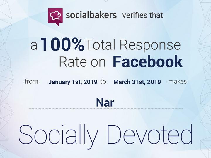 Nar ответил на 100% обращений, полученных в Facebook