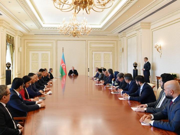 Президент Ильхам Алиев принял послов и руководителей диппредставительств мусульманских стран в Азербайджане - ФОТО