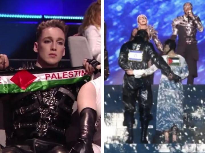 Скандал: Мадонна показала флаг Палестины в финале «Евровидения-2019» в Израиле - ВИДЕО