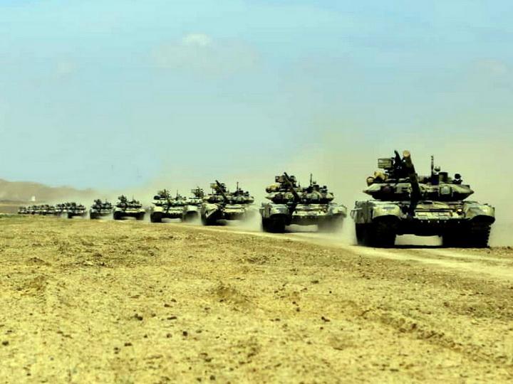 Начались широкомасштабные оперативно-тактические учения Азербайджанской армии - ВИДЕО - ФОТО