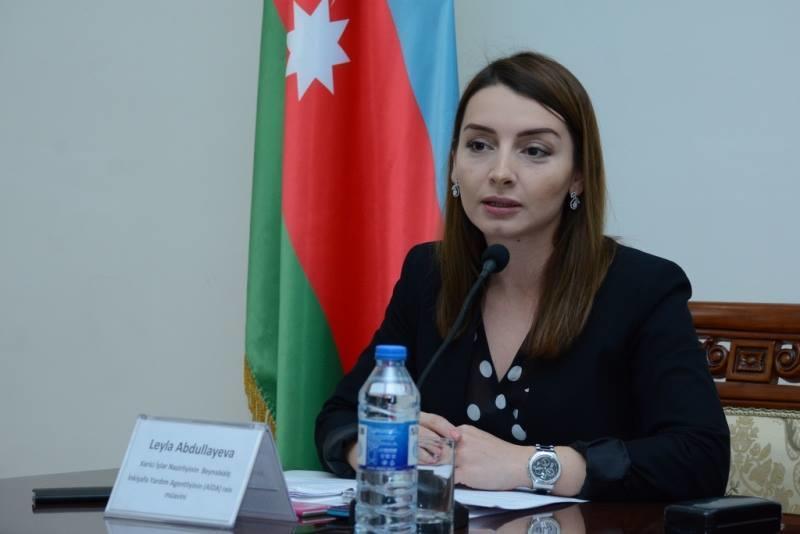 Лейла Абдуллаева: Заявление МИД Армении по поводу Мхитаряна указывает на то, что к миру нужно готовить именно армянский народ