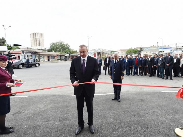 Президент Ильхам Алиев принял участие в открытиикомплекса Сабунчинского железнодорожного вокзала - ФОТО