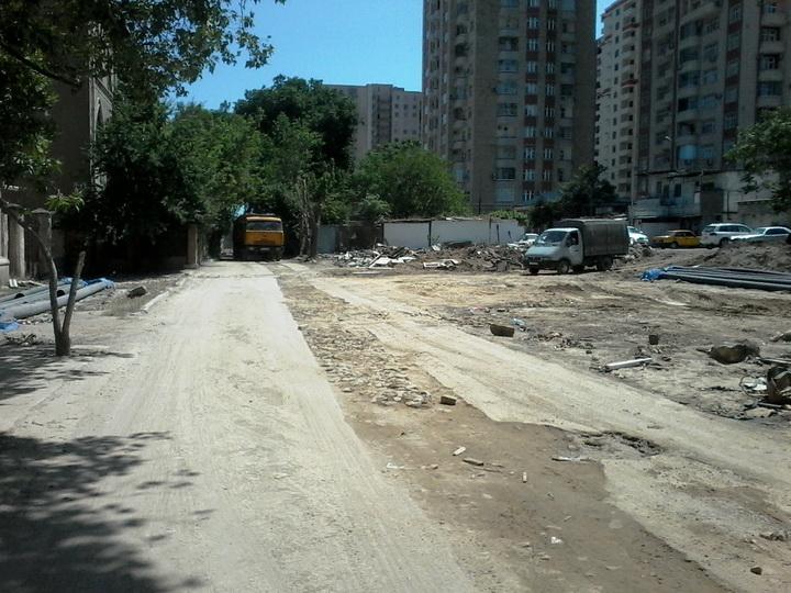 В Баку строится новая дорога – ФОТО