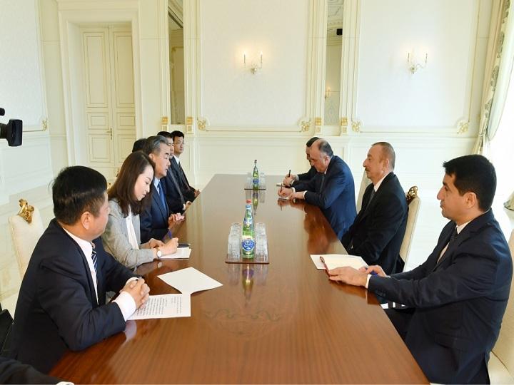 Prezident İlham Əliyev Çinin xarici işlər nazirini qəbul edib – FOTO – YENİLƏNİB