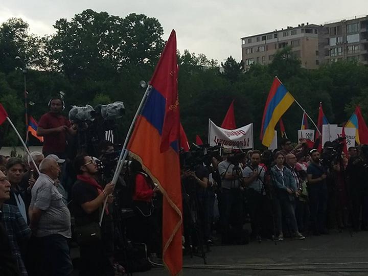 Дашнаки провели митинг против Никола Пашиняна