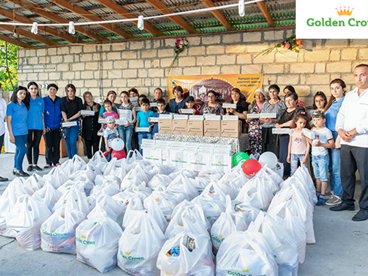 Кампания «Подарок на Рамадан» от GoldenCrown: Первым 200 семьям предоставлена помощь в виде продуктовпитания – ФОТО