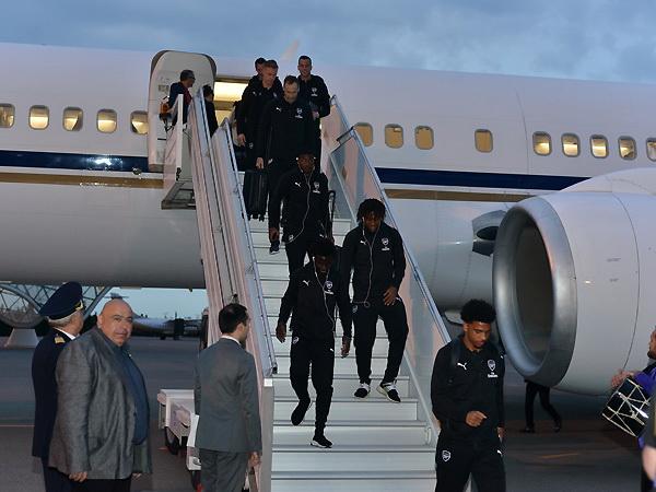 «Арсенал» прибыл в Баку на финал Лиги Европы – ФОТО