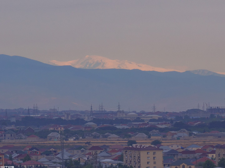 «Вид из Баку на заснеженный Шахдаг» - Эпическое ФОТО