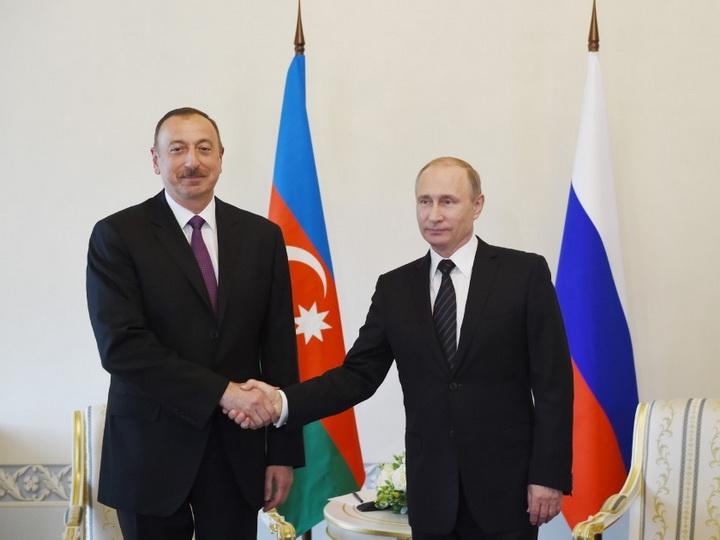 Президент Ильхам Алиев позвонил Президенту Владимиру Путину