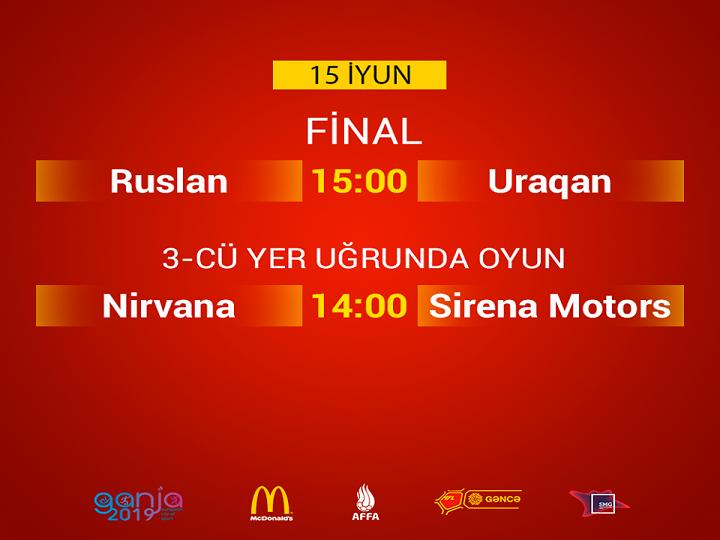 """""""MFL Gəncə Kuboku 2019""""da final həyəcanı: """"Ruslan"""" """"Uraqan""""a qarşı"""